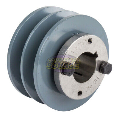 Cast Iron 3.75 2 Groove Dual Belt B Section 5l Pulley 1-316 Sheave Bushing