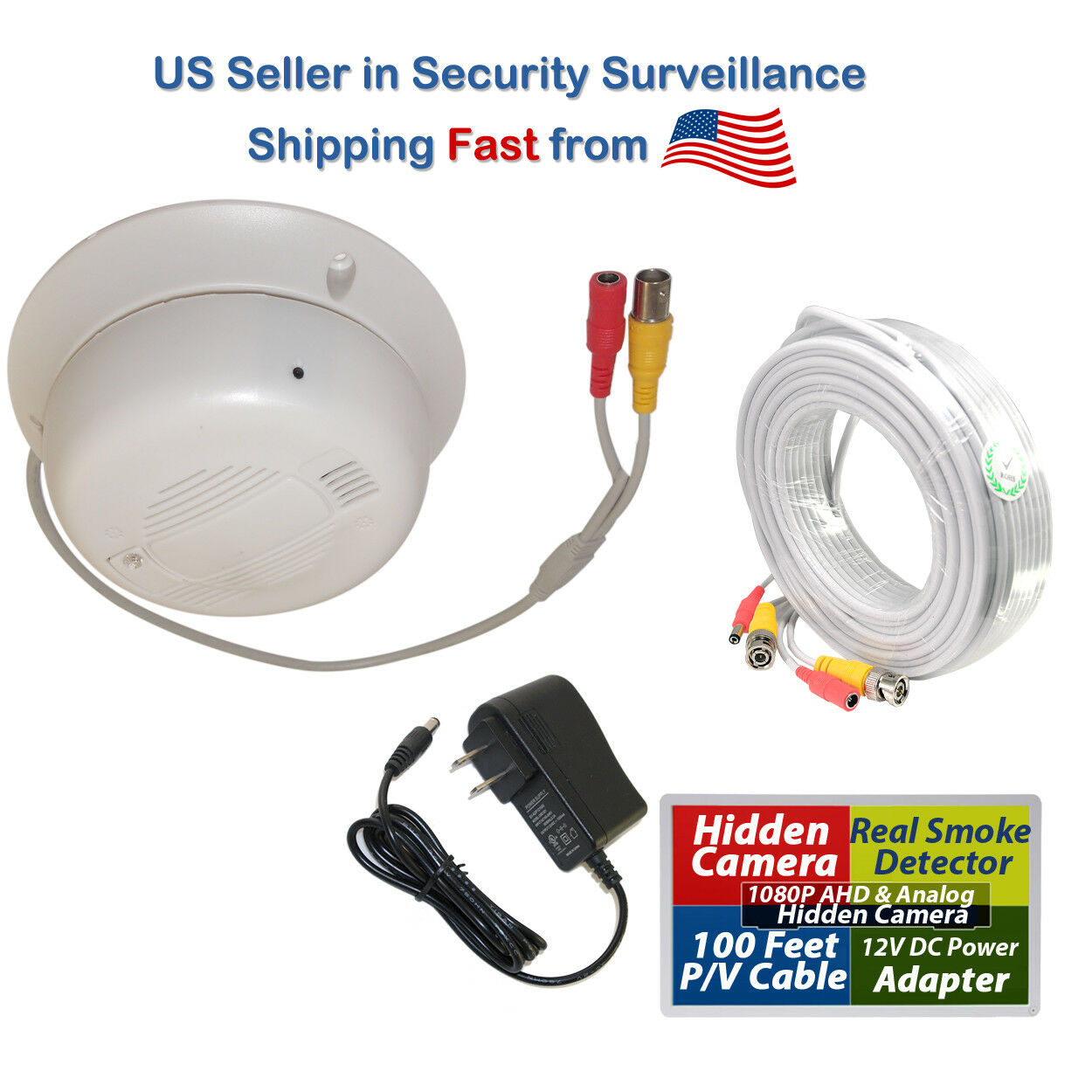 Hidden Spy Nanny 1080P AHD Security Camera with Functional R