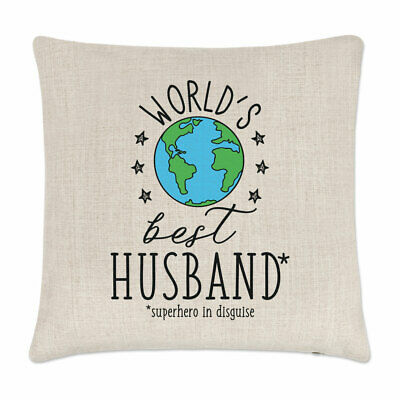 World's Best Husband Cushion Cover Pillow Favourite Valentines Day Love