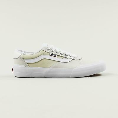 Vans Pro Skate Chima 2 Skateboarding Shoes Men's Trainers White Suede Canvas