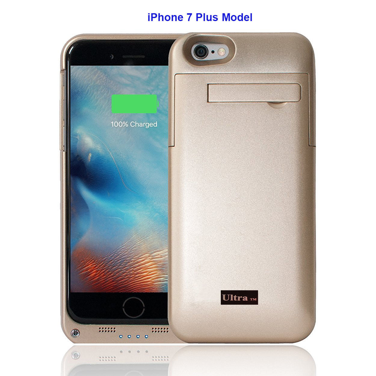 san francisco af3a7 07905 Details about New Gold Power Charging Case Iphone 7 and 8 5.5