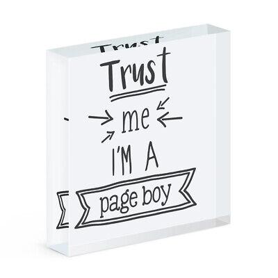 Trust Me I'M A Paje Acrílico Foto Bloque Marco Divertido Boda Broma
