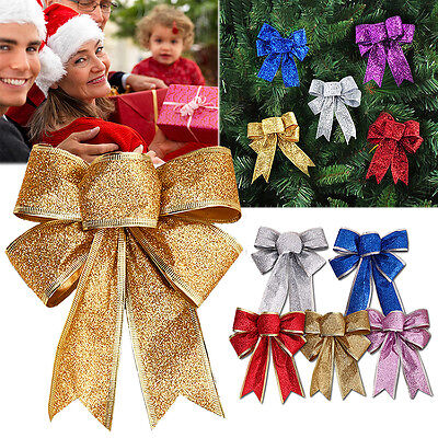 5 Colors Bows Bowknot Christmas Tree Party Gift Present Xmas Holiday Decorations ()