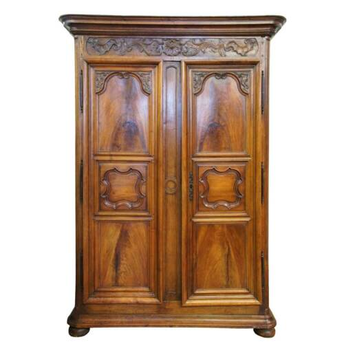 Antique French Provincial Louis XIV Walnut Armoire c. 1750