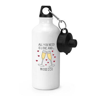 Alles Was Sie Brauchen Ist Liebe und Prosecco Sport Getränke Wasserflasche ()