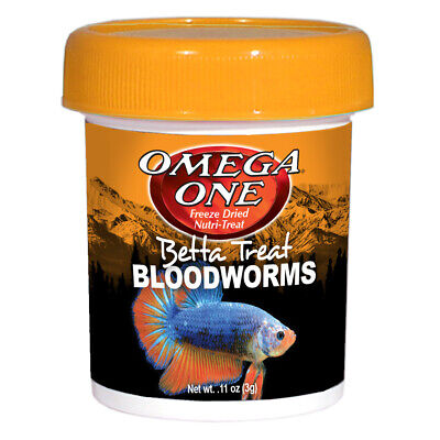 Omega One Freeze Dried Bloodworms Betta Treat - .11 oz