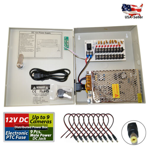 8 Channel Power Supply Distribution Box 12V DC 5Amp for CCTV Security Camera