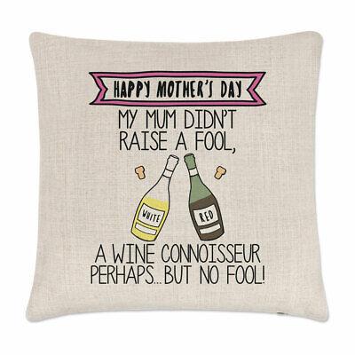Happy Muttertag Wein Kenner Kissenbezug Mutter Rot Weiß Liebhaber