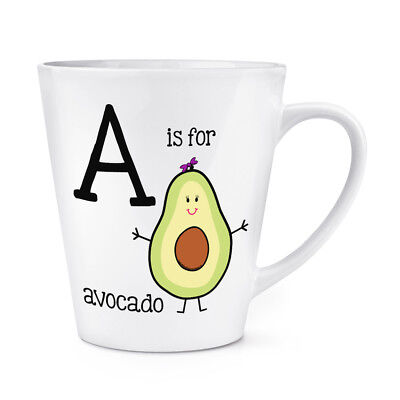 A Is For Avocado 12oz Latte Mug Cup - Alphabet - Is 12 Oz A Cup