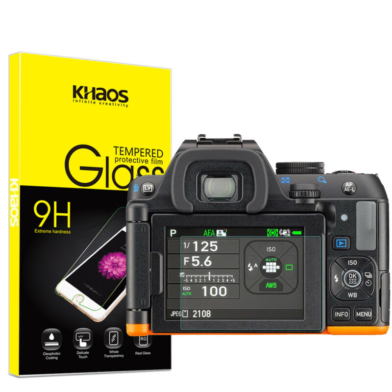 Khaos For PENTAX KP K-70 K-S2 Tempered Glass Screen Protector