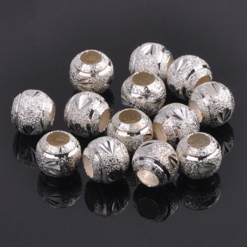 4mm 5mm 6mm 8mm 10mm 12mm Charms Metal Loose Spacer Beads DIY Findings Wholesale