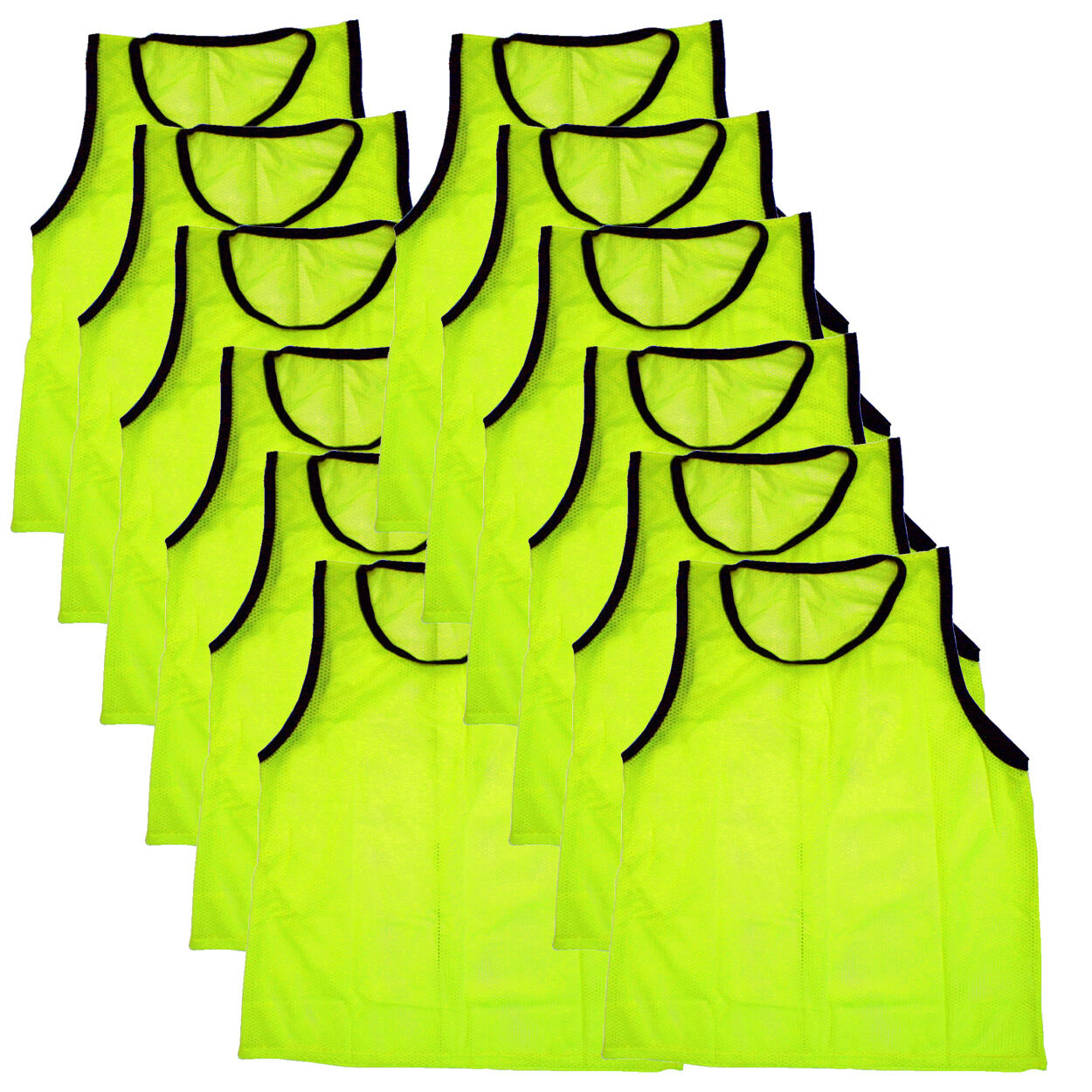 12 SCRIMMAGE VESTS PINNIES SOCCER YOUTH YELLOW ~ NEW!