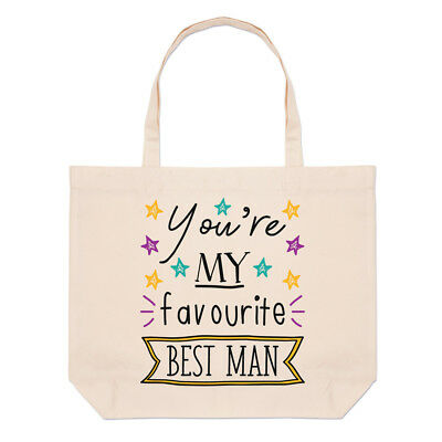 You're My Favourite Best Man Stars Large Beach Tote Bag - Funny