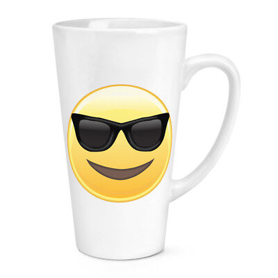 Sonnenbrille Emoji 483ml Groß Latte Becher Tasse - Lustig Smiley (Große Lustige Sonnenbrille)