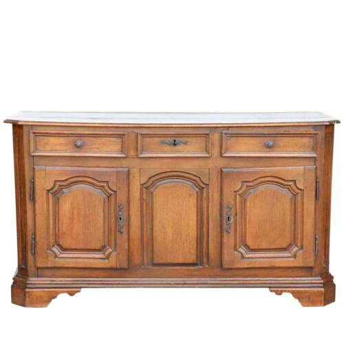 Antique French Louis XIV Oak Enfilade Sideboard 18th century