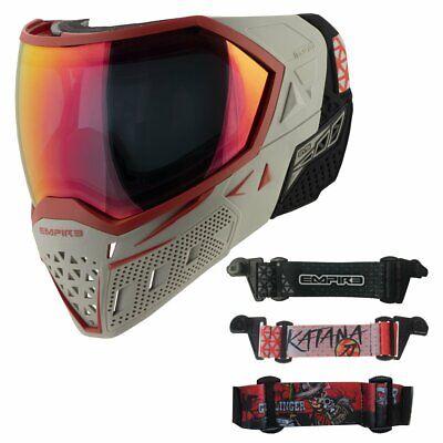 Empire EVS Paintball Mask Goggles - GUNSLINGER Grey Red - 3