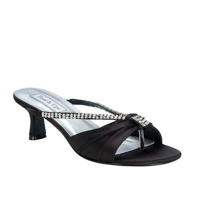 Touch Ups Womens Phoebe Low Heel Sandal Black Size 8.5 #NCMVW-M99 Touch-ups Low Heel Heels
