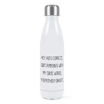 Doppel-wand-wasser (Automatik Korrigieren Doppelwand Wasserflasche Lustig Rechtschreibung Grammatik)