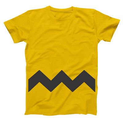 Charlie Brown Adult Funny  Humor  Costume Gold Basic Men's T-Shirt
