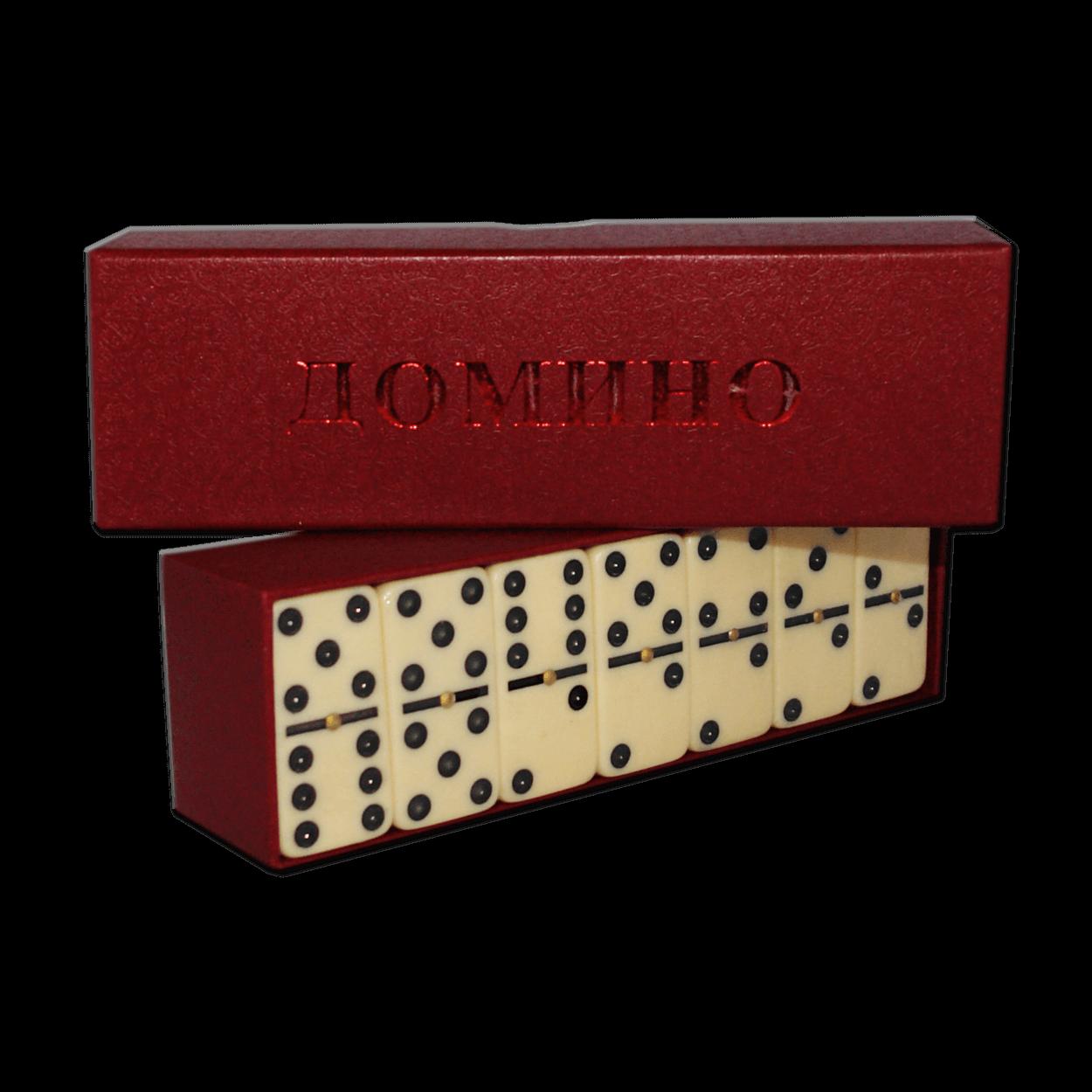Russische Spiel Domino Tischspiel Weiß in Kartonbox Игра Домино