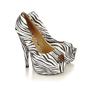 NEW WOMEN'S ANIMAL PRINT HIGH HEEL SEXY PLATFORM SANDALS IN UK SIZES 3-8