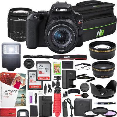 Canon EOS Rebel SL3 DSLR Camera EF-S 18-55mm f/3.5-5.6 IS II Lens 16GB x2 Bundle