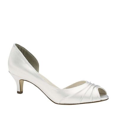 Touch Ups Womens Abby Low Heel Pump White Size 9 #NCMS2-M73 Touch-ups Low Heel Heels