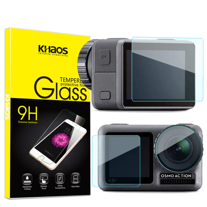 Khaos For DJI Osmo Action Camera Tempered Glass Screen Protector