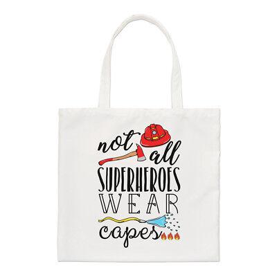 Feuerwehrmann Nicht Alle Superhelden Tragen Capes Regulär Einkaufstasche Lustig
