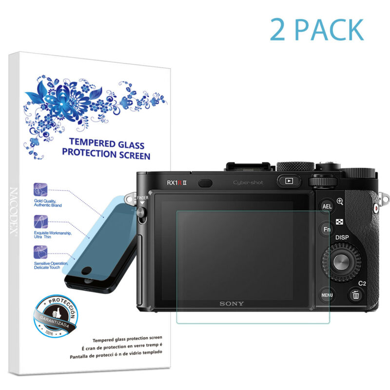 2X For SONY RX1 RX1R RX1RM2 Digital SLR Camera Tempered Glass Screen Protector