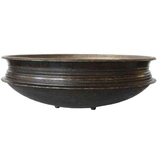 Antique South Indian Solid Bronze Cooking Vessel (Urli) 19th century 18.75 inch