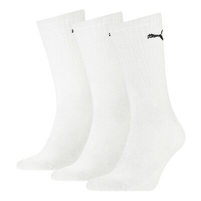 PUMA NEW 3 Pack Sports Socks Crew White BNWT