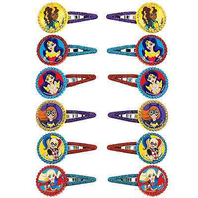DC Super Hero Girls Hair Clips Birthday Decoration Party Barrette Favor Supplies - Super Hero Supplies