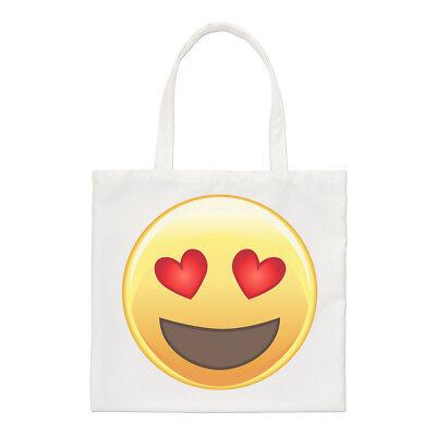 ji Regulär Einkaufstasche Smiley Lustig Shopper (Herz Augen Smiley)