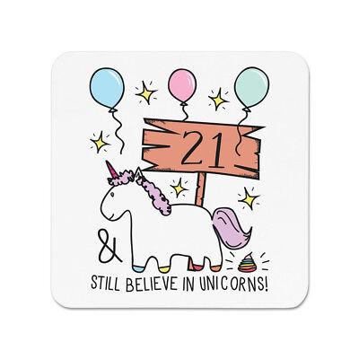 21. Geburtstag trotzdem Glauben in Unicorns KÜHLSCHRANKMAGNET - Lustig Froh