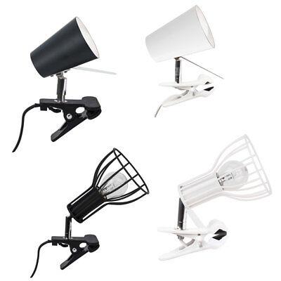 Klemmleuchte Klemmspot Lampe Schreibtischleuchte weiß schwarz E14 Design ()