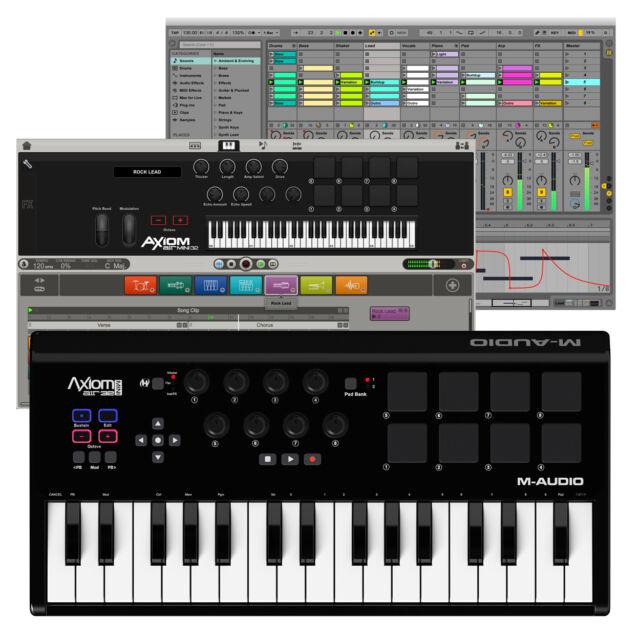 M-Audio Axiom AIR Mini 32 USB MIDI Keyboard Controller + Ignite Music Software