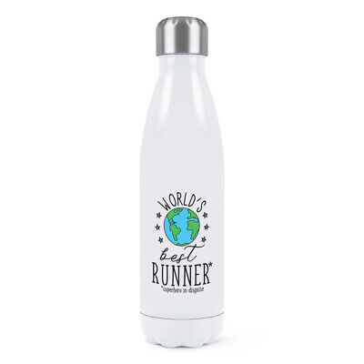 World's Best Runner Double Wall Water Bottle Funny Favourite Running