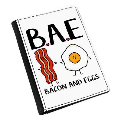 Bae Bacon Y Huevos Funda de Pasaporte Funda Novia Novio San Valentín