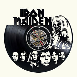 Iron Maiden Vinyl Wall Clock Record Gift Decor Poster Sing Feast Day Woman Man