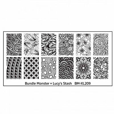 Bundle Monster XL Stamping Schablone Plate BM-XL-209 Nailart Ornament Tribal