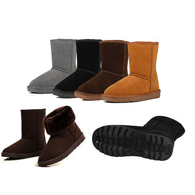 Winter Boots Women's US Sizes 5 6 7 8 9 10 Mid Calf Warm Fashion Plush 4 Colors
