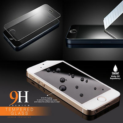High Quality Premium Real Tempered Glass Film Screen Protector for iPhone SE