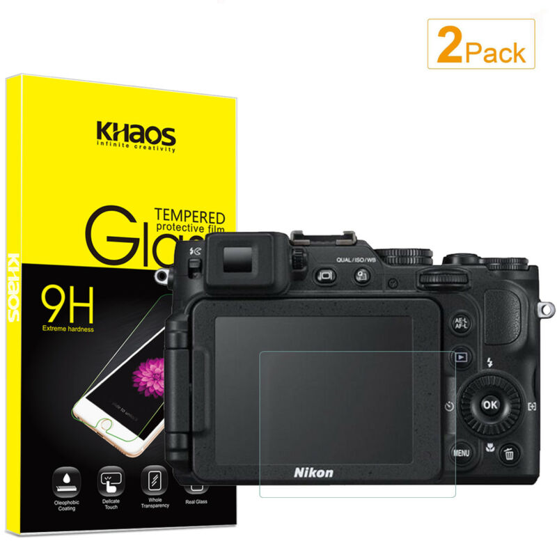 2-Pack Khaos For Nikon P7800 P7700 P7100  Tempered Glass Screen Protector