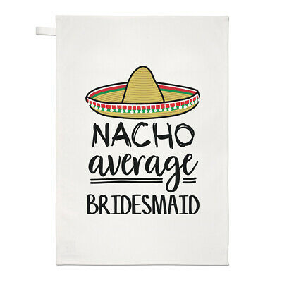 Nacho Media Dama Honor Té Toalla Plato Paño Worlds Best Favourite Boda