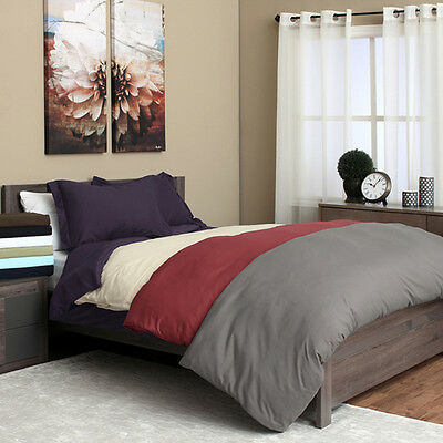 1500 Series Egyptian Quality 3pc Duvet Cover Set- All Sizes, 12 Colors Bedding