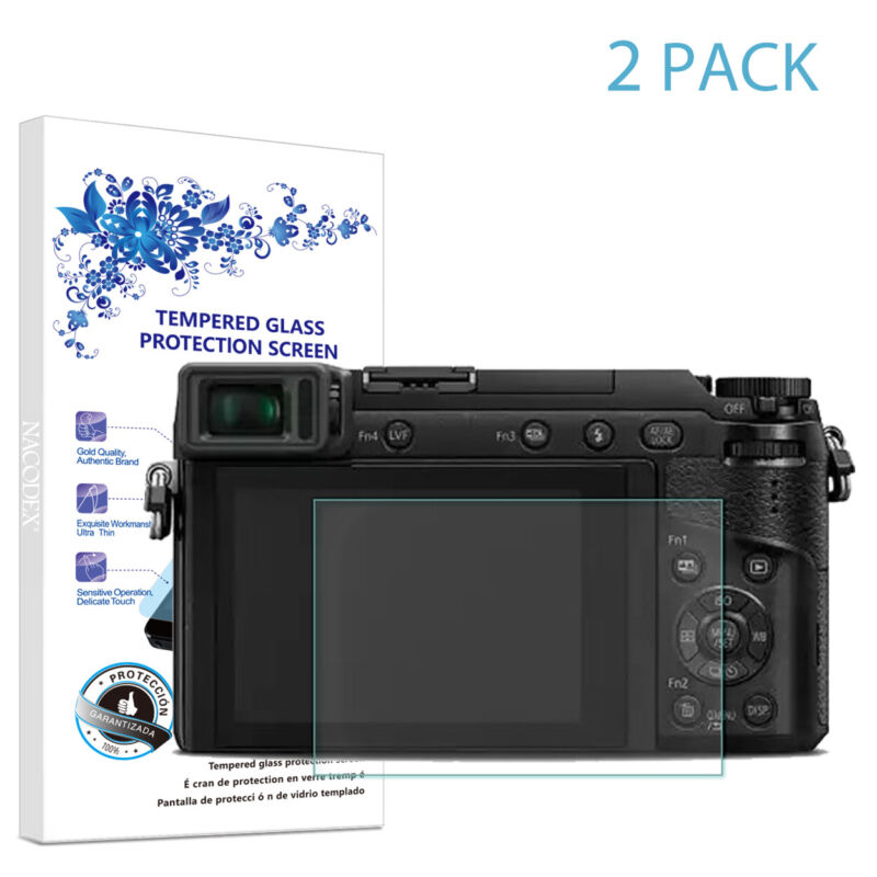 2X For Panasonic Lumix GX85 GX80 GX7 Mark II Tempered Glass Screen Protector