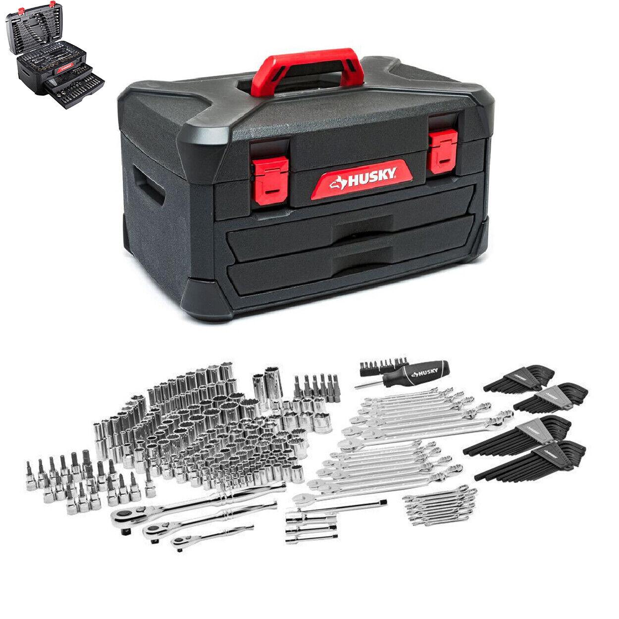 268-Piece Husky Mechanics Tool Set w Case SAE Metric Sockets