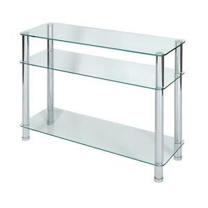 Glass Top Console Tables