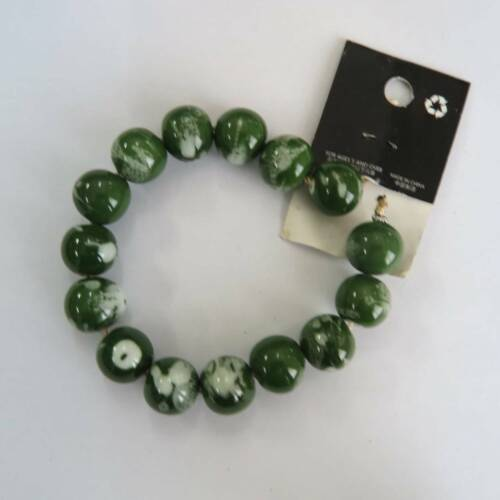 5pcs Retro 18mm Round Olive Green Dull Lampwork Glass Handmade Loose Craft Bead